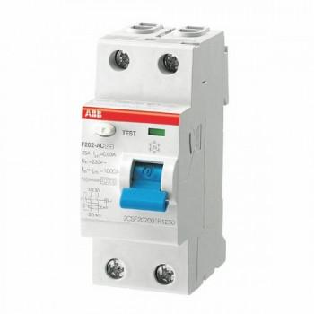 УЗО АВВ выключатель дифф. тока 2мод. F202 АС-63/0,3