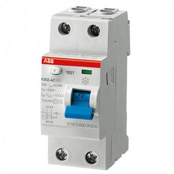 УЗО ABB Выключатель дифференциального тока 2 модуля FH202 AC-40/0,1