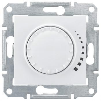 Диммер регулятор света 500Вт поворотно-нажимной (белый)