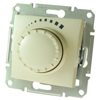 Диммер регулятор света 500Вт поворотно-нажимной (кремовый)