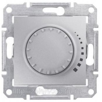 Диммер регулятор света 500Вт поворотно-нажимной (алюминий)
