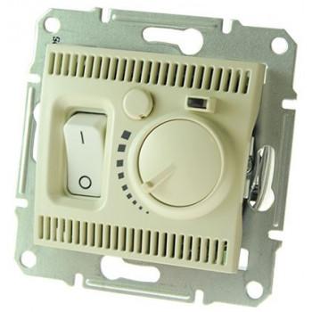 Термостат для теплого пола с датчиком (шнур) (кремовый)