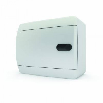 Tekfor бокс 12М накладной IP40 непрозрачная белая дверца нажимной
