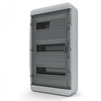 Tekfor бокс 36М накладной IP65 прозрачная черная дверца