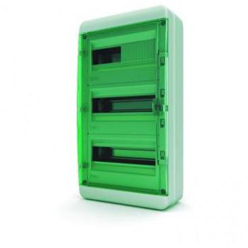 Tekfor бокс 36М накладной IP65 прозрачная зеленая дверца