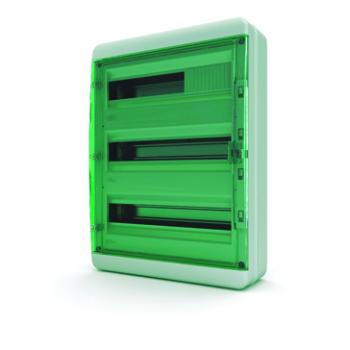 Tekfor бокс 54М накладной IP65 прозрачная зеленая дверца