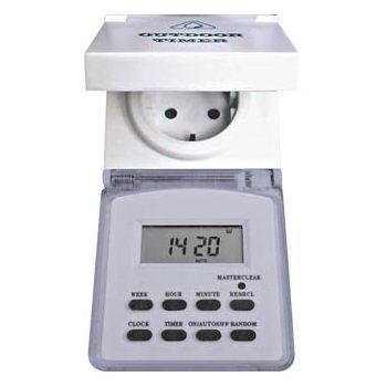 Розетка с таймером  (недельная) в защитном корпусе 61926/TM23 3500W/16A 230V IP 44